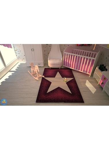 Poypoy Süperstar Mor Pembe Çocuk Halısı 100X150cm-Poypoy